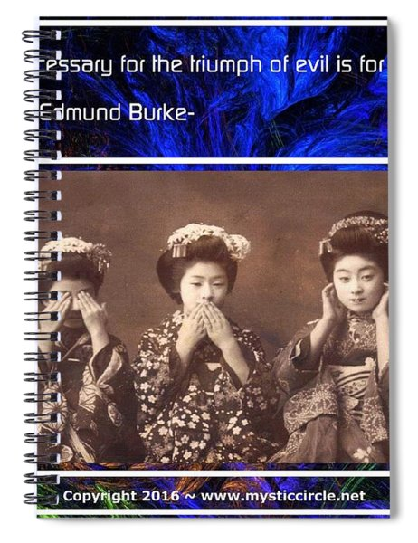 The Mystic Circle Inspirational Series One Five Spiral Notebook