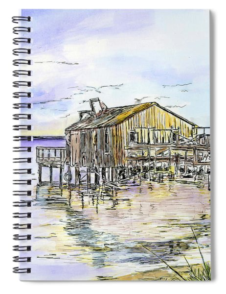 The Old Fishing Shack Spiral Notebook