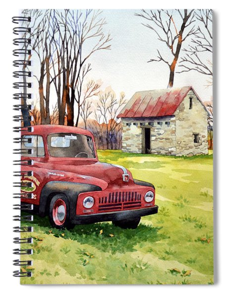 The Old Harvester Spiral Notebook