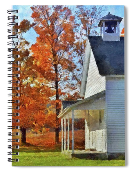 The Old Schoolhouse At Port Oneida Spiral Notebook