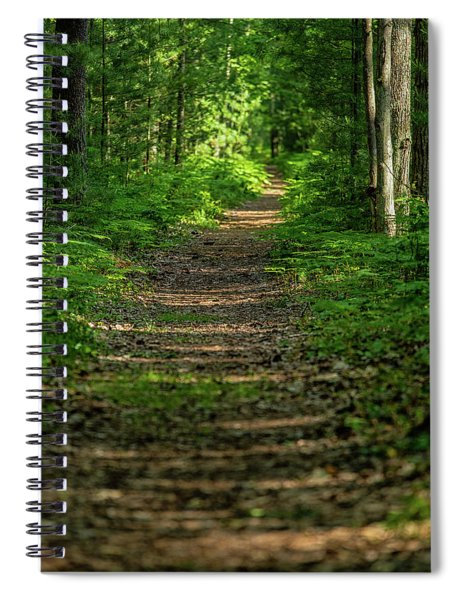 Spiral Notebook featuring the photograph The Path Less Traveled by Heather Kenward