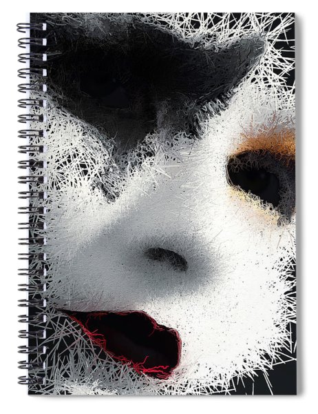 Spiral Notebook featuring the digital art The Phantom Of The Arts by ISAW Company