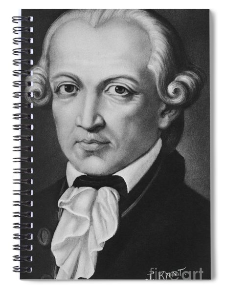 The Philosopher Immanuel Kant Spiral Notebook