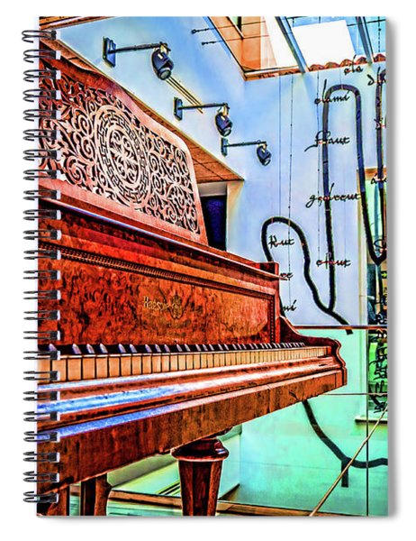 The Piano And The Hand Spiral Notebook