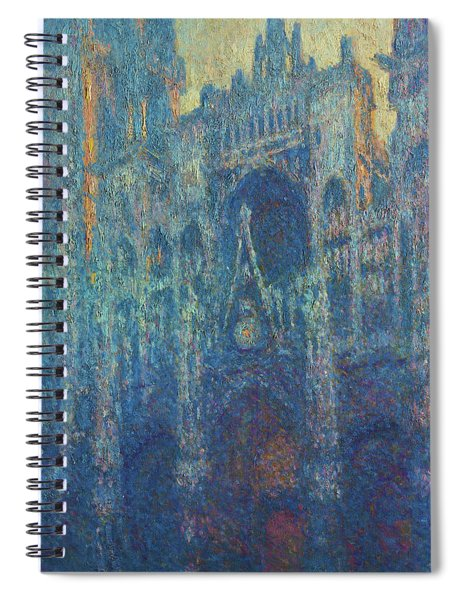 The Portal Of Rouen Cathedral In Morning Light - Digital Remastered Edition Spiral Notebook