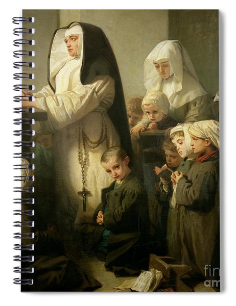 The Prayer Of The Children Suffering From Ringworm, 1853  Detail Spiral Notebook