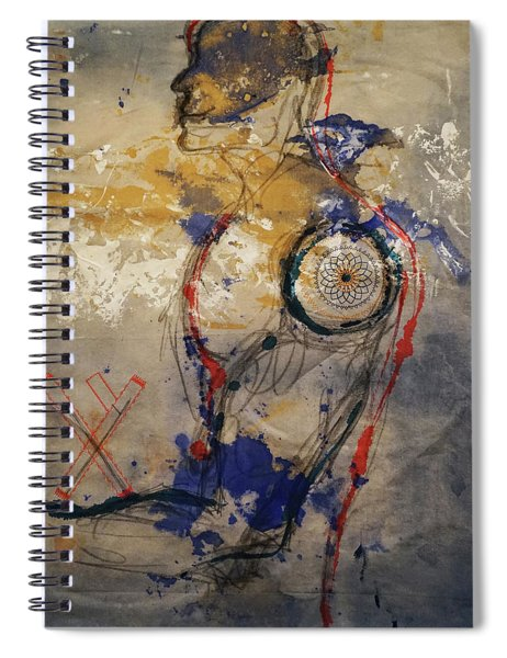The Protector Of The Sacred Feminine  Spiral Notebook