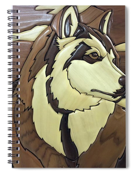 The Proud Husky Spiral Notebook