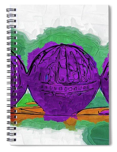 The Purple Balls Spiral Notebook