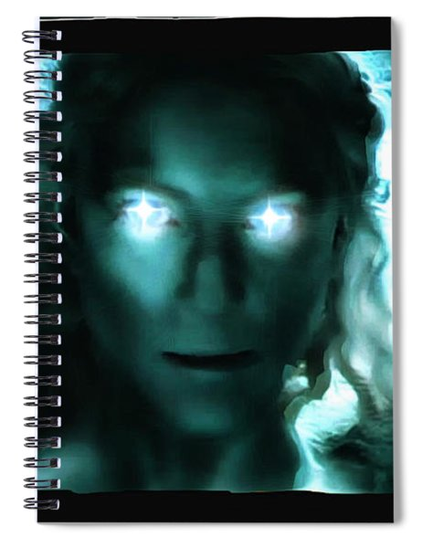 Spiral Notebook featuring the digital art The Queen Of Mordor by Mario Carini