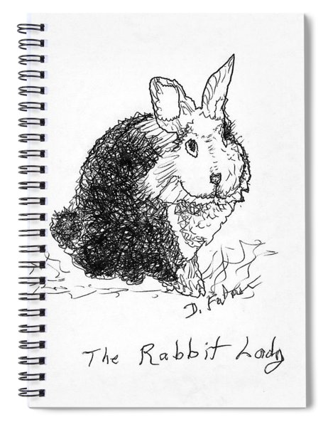 The Rabbit Lady Drawing Spiral Notebook