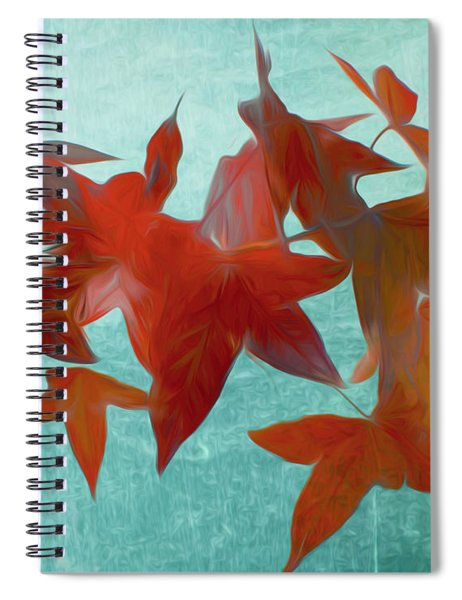 The Red Leaves Spiral Notebook