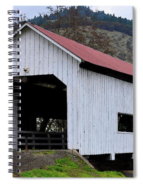 The Red Roof Covered Bridge Spiral Notebook