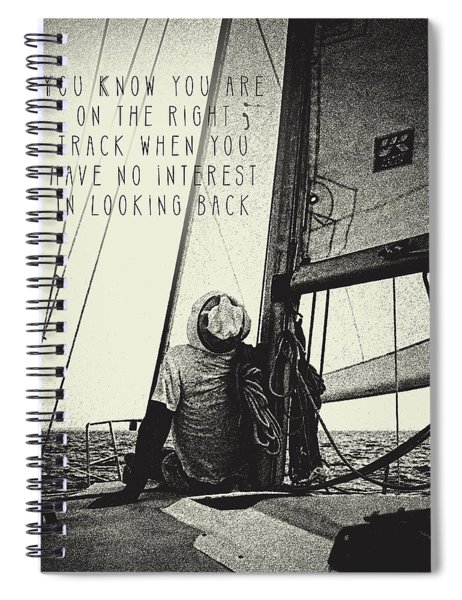 The Right Track Spiral Notebook
