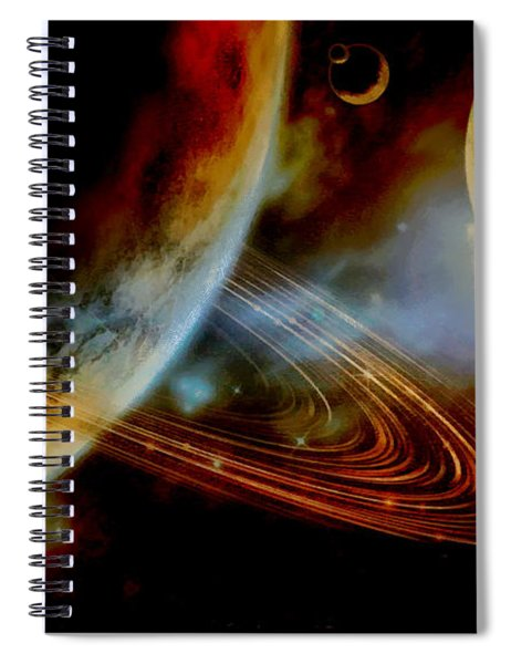 The Ringed World Of Asterion Spiral Notebook