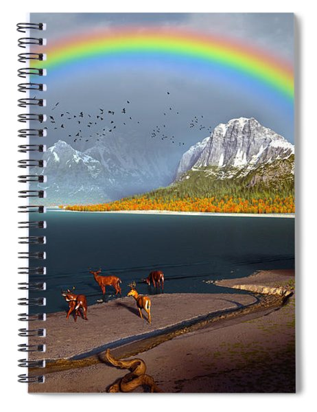 The Rings Of Eden Spiral Notebook