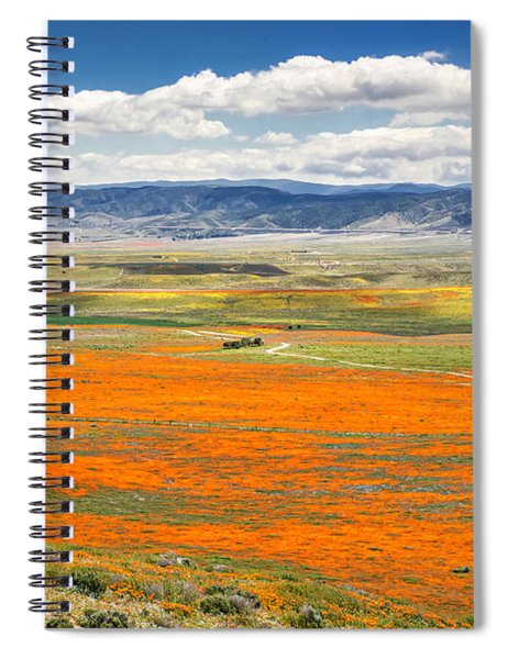The Road Through The Poppies 2 Spiral Notebook