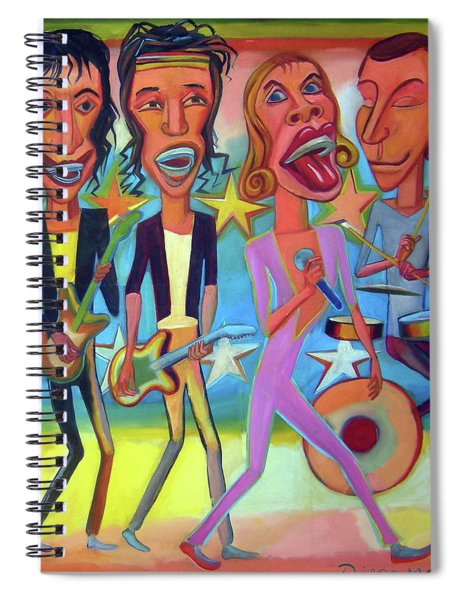 The Rolling Stones Band Spiral Notebook