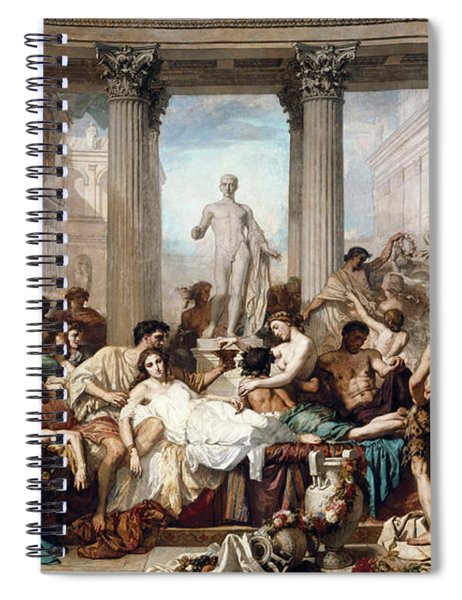 The Romans In Their Decadence Spiral Notebook