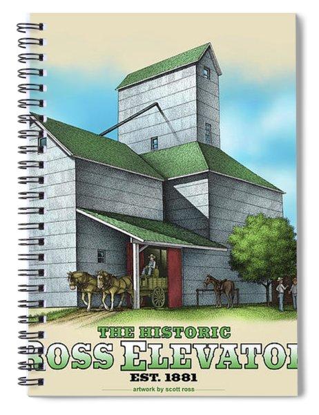 The Ross Elevator Spiral Notebook