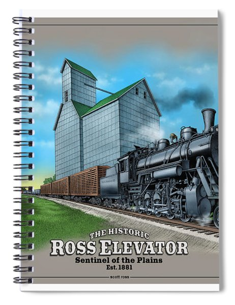 The Ross Elevator Sentinel Of The Plains Spiral Notebook