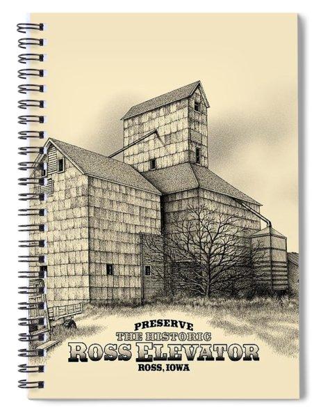 The Ross Elevator Version 2 Spiral Notebook