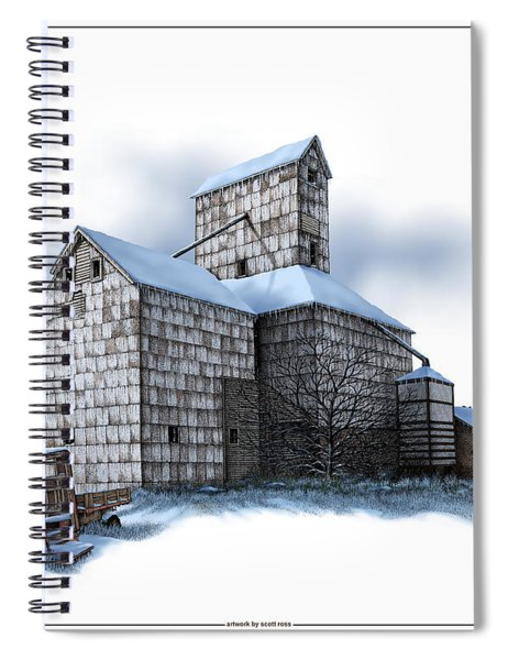 The Ross Elevator Winter Spiral Notebook