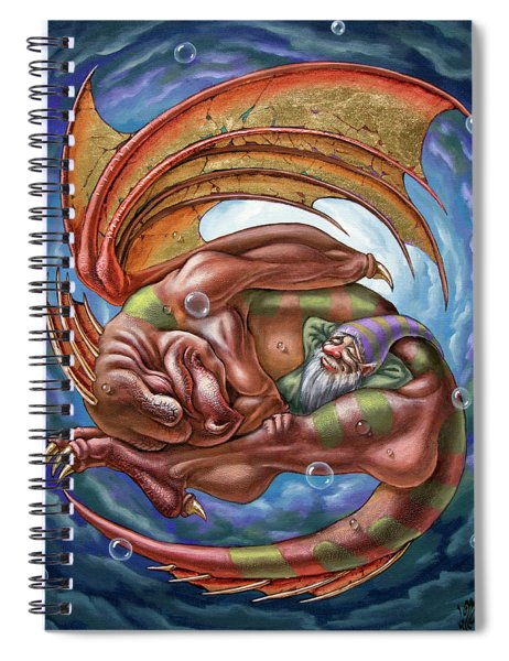 The Second Dream Of A Celestial Dragon Spiral Notebook