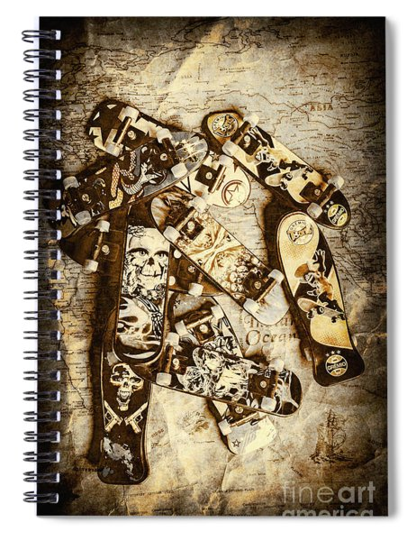 The Skateboard Globe Trotters Spiral Notebook