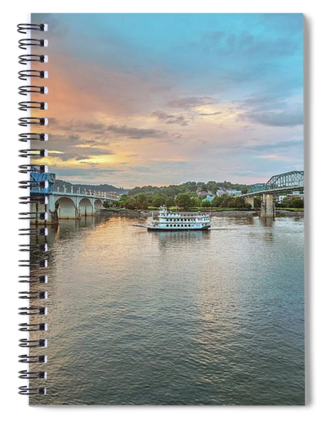 The Southern Belle Between The Bridges  Spiral Notebook