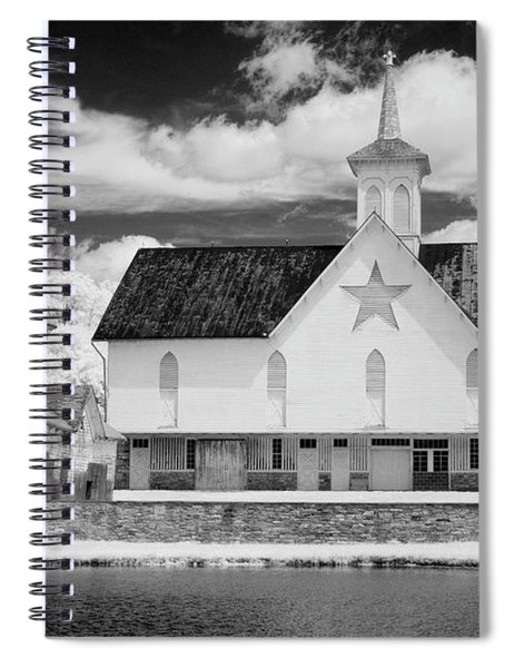 The Star Barn In Infrared Spiral Notebook