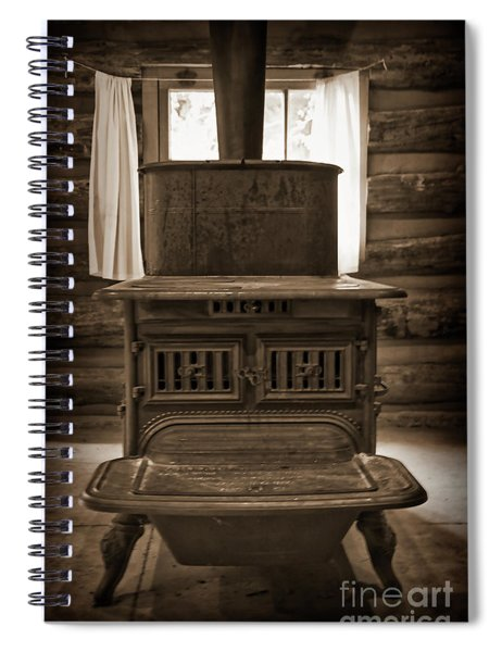 The Stove In The Cabin Spiral Notebook