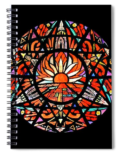 the Sun is Aflame Spiral Notebook