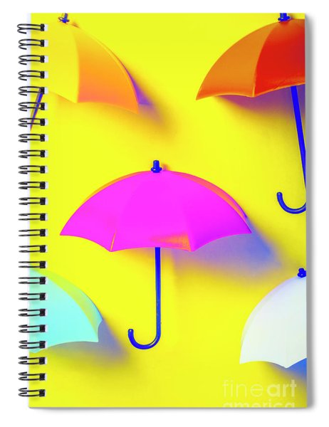 The Sun Shower Scene Spiral Notebook