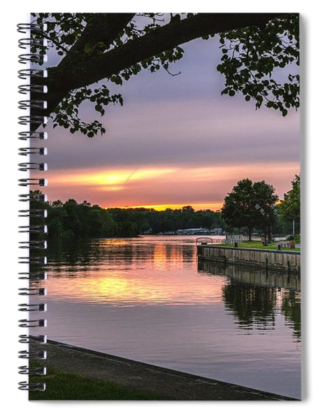 Spiral Notebook featuring the photograph The Sunset Blues by Rod Best