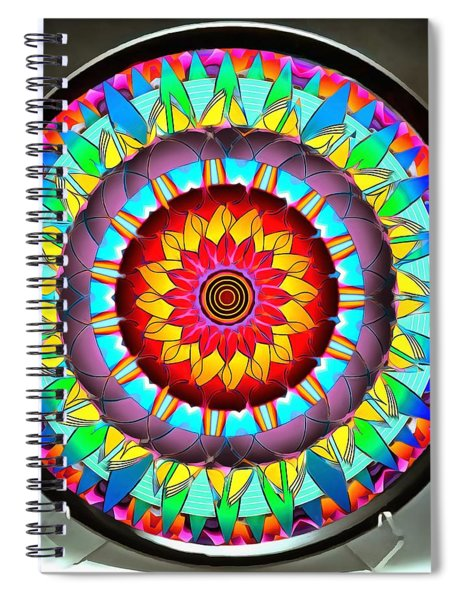 Spiral Notebook featuring the photograph The Sunshine Plate by Mario Carini