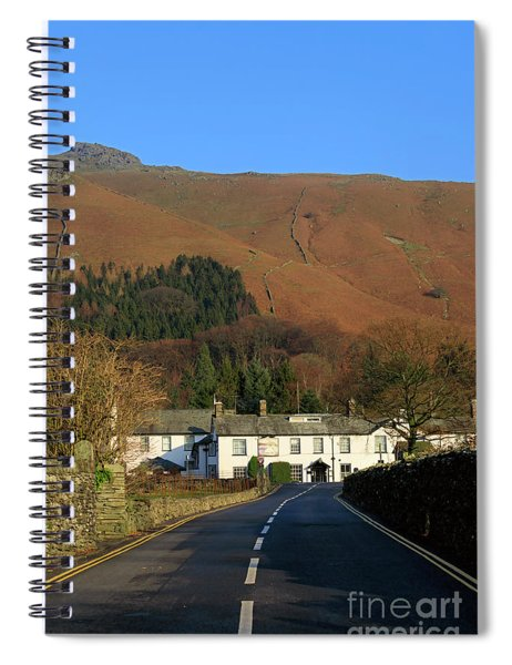 The Swan Inn And Rydal Fell From Grasmere Village Lake District Spiral Notebook