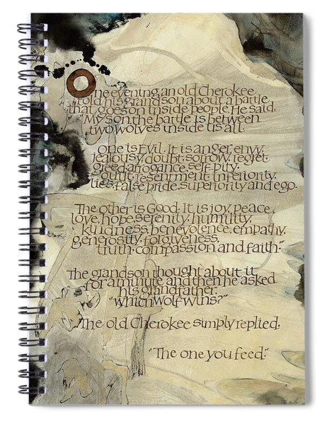 The Tale Of Two Wolves Spiral Notebook