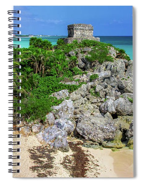 The Temple By The Sea Spiral Notebook