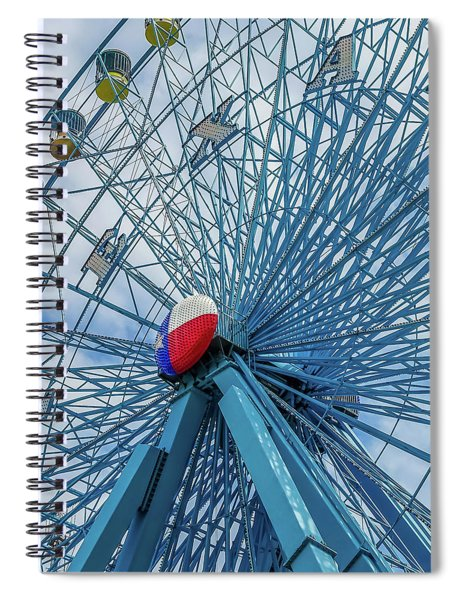 The Texas Star, State Fair Of Texas Spiral Notebook by Robert Bellomy