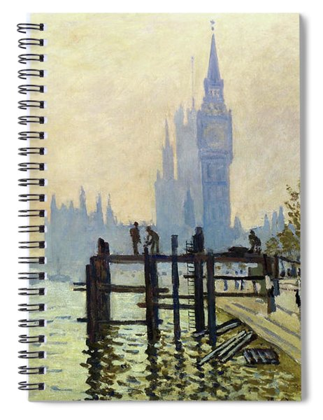 The Thames At Westminster - Digital Remastered Edition Spiral Notebook