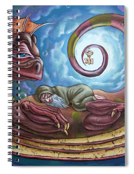 The Third Dream Of A Celestial Dragon Spiral Notebook
