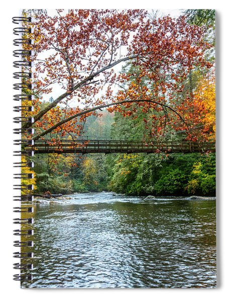 The Toccoa River Hanging Bridge Spiral Notebook
