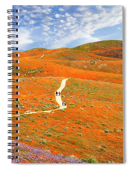 The Trail Through The Poppies Spiral Notebook