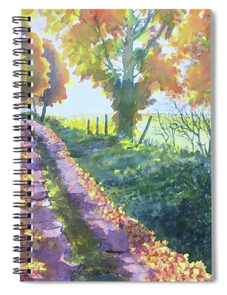 The Tunnel In Autumn Spiral Notebook