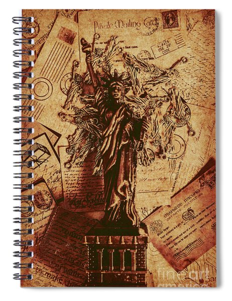 The Very Vintage Usa Spiral Notebook