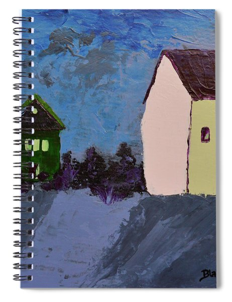 The Village At Night Spiral Notebook