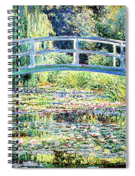 The Water Lily Pond By Monet Spiral Notebook