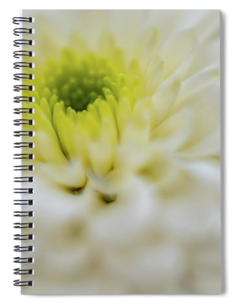 The White Flower Spiral Notebook