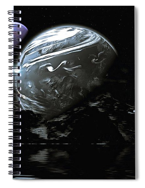 Spiral Notebook featuring the digital art The Worlds Of Belisar by Mario Carini